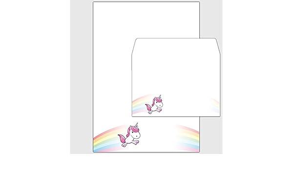 Umschläge DIN A5 Kinder Papier Einhorn Stellar 50 Sets