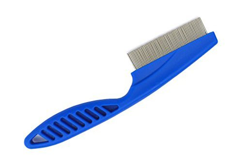 Pets Empire Flea Comb Pet Cat Dog Lice Comb Nit Remover Grooming Brush Tools to Treatment & Remove Fleas, Mites, Ticks, Dandruff Flakes - Stainless Steel Fine Teeth- Color May Vary