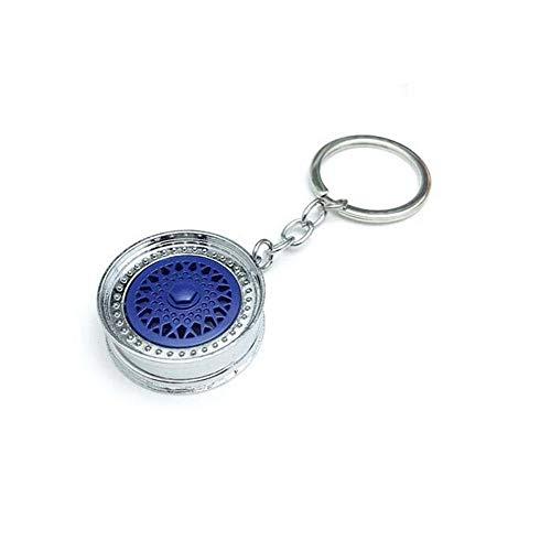 ZSDGY BBS Wheel Keychain, Auto modifizierter Stahlring-Schlüsselanhänger D