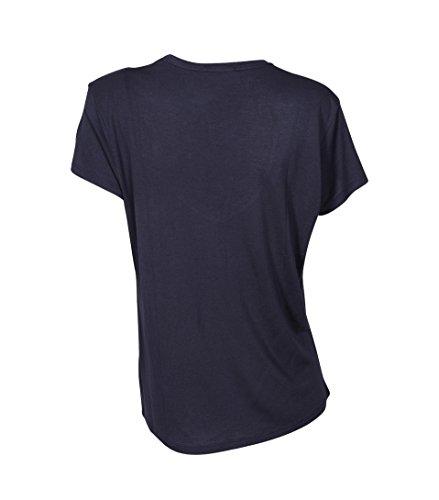 GRETA & LUIS Damen Shirt Ciara Aus Modal und Kaschmir Blau Mid Blue
