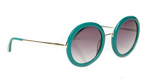 rainbow safety Damen Sonnenbrille MED Limitierte Edition Runder Rahmen Groß UV400 Schutz O2021-GR