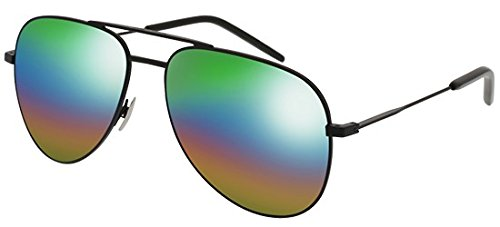Saint Laurent Sonnenbrillen CLASSIC 11 RAINBOW BLACK/GREEN SHADED MULTICOLOR Unisex
