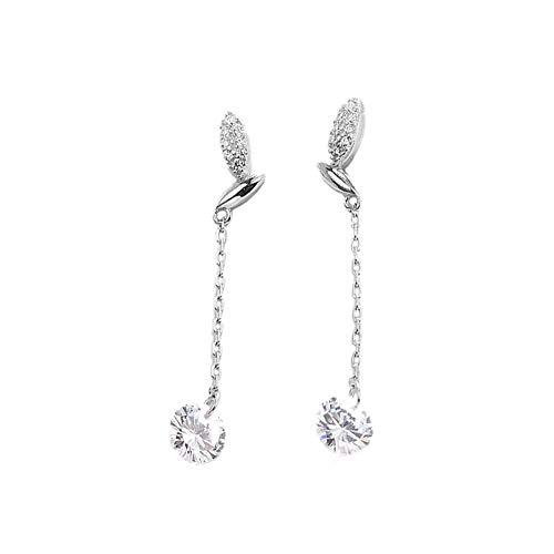 Orecchini s925 argento linea orecchio sen orecchini rosa dolce zircone orecchio filo temperamento carino gioielli orecchio studente