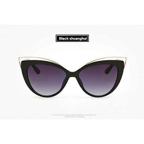 YHEGV Retro Cat Eye Brille Lady Sonnenbrille Frauen Hd Objektiv Sonnenbrille Weibliche Katie Holmes Kurve Design Elegante Cateyes Eyewears