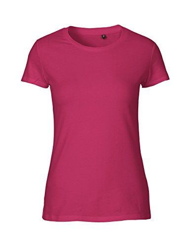 Green Cat Ladies Fitted T-Shirt, 100% Bio-Baumwolle. Fairtrade, Oeko-Tex und Ecolabel Zertifiziert Pink
