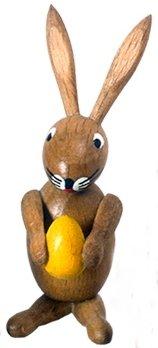 Osterfigur Osterhase gelb BxHxT ca 2,5 x 6,5 x 3,5cm NEU Osterdeko Osterhasenfigur Ostern Korb Osterei Frühling Erzgebirge Seiffen Hase