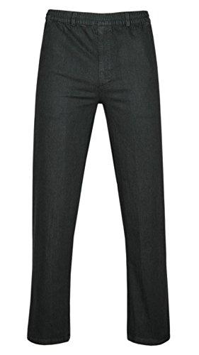 T-MODE Stretch Jeans Schlupfhose ohne Cargotaschen Herbst-Kollektion-Schwarz-XL