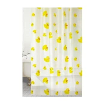 Peva Duck Shower Curtain Colour: Yellow