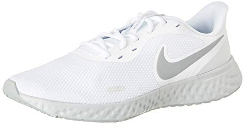 Nike Revolution 5, Zapatillas para Correr para Hombre, White Wolf Grey Pure Platinum, 40 EU