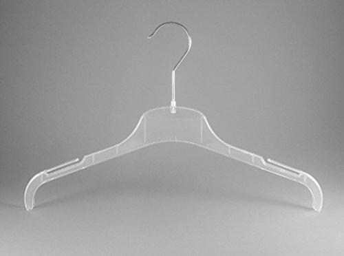 Kleiderbügel für Blusen, Shirt und Kostüme, 38cm, transparent, FO1-38c, NEU, 20 Stück