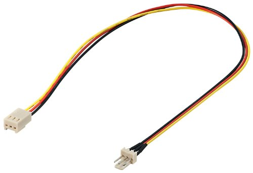 93631 Lüfter Verlängerungskabel (3-polig Stecker auf 3-polig Kupplung) weiß ()