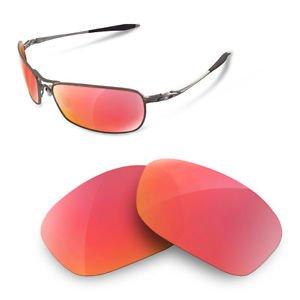 sunglasses restorer Kompatibel Ersatzgläser für Oakley Crosshair 2.0 (Polarized Ruby Red Gläser)