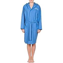 Arena peignoir de bain zeal pour adulte bleu/blanc-taille l/50045