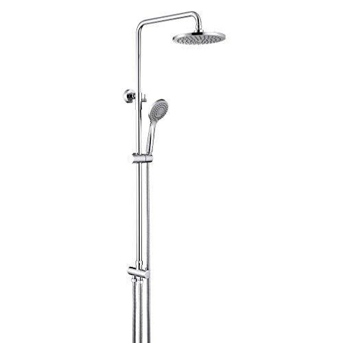 ubeegol Duschsäule Regendusche Ohne Armatur Duschsystem ohne Mischbatterie mit Wandhalterung Höhenverstellbar Duschstange Duschkopf Set für Badewanne
