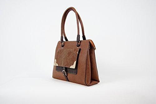 Tasche Damentasche Schultertasche Luxus Taymir 2 Jahre Garantie versch. Farben Braun