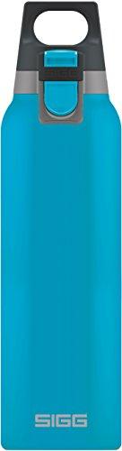 Sigg Vakuum-isolierte Trinkflasche SIGG Hot und Cold ONE Aqua, Vakuum-isolierte Thermo-Flasche aus Edelstahl, 0.5 L, BPA Frei, Blau, Blau, 0.5 L, 8694.00