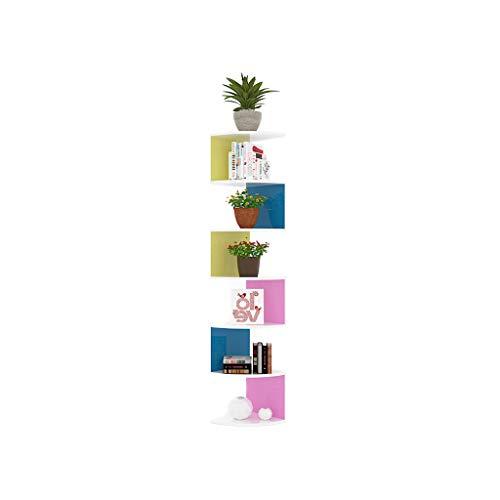 Shelf health uk mensola angolare - i ripiani angolari 5/7 possono essere utilizzati per mensole angolari o decorazioni welcome (colore : color - 7 layers)