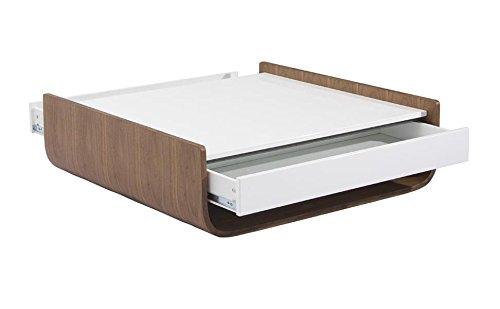 designement Taco Table Basse Laqué Noyer 100 x 100 x 30.4 cm