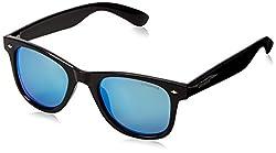 Polaroid Polarized Wayfarer Unisex Sunglasses - (PLD 6009/S M D28 50JY 50 Blue Color)