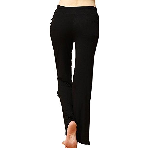 Femme pantalon de sport Yoga d'exercice pants fitness Noir