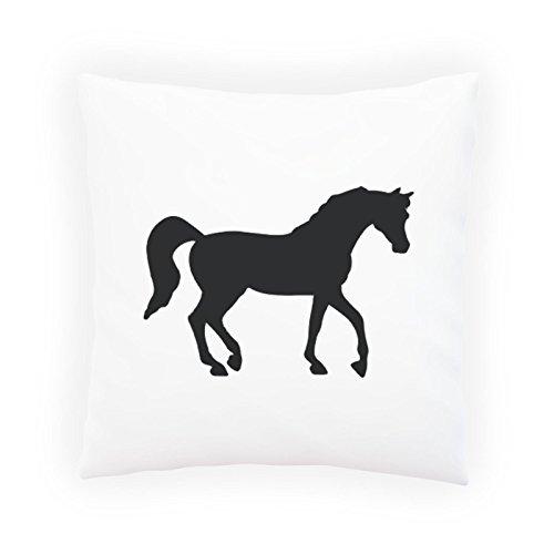 Black Horse Kissen (Black Horse Neuheit Kunst Dekoratives Kissen, Kissenbezug mit Einlage/Füllung oder ohne, 45x45cm e207p)