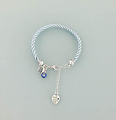 Bracelet oeil grec, bracelet mauvais oeil, Bracelet bleu avec pendentif œil grec, bijoux, bracelet, porte bonheur, bijou, bracelets, bijou œil grec, bijoux cadeaux, bracelet femme