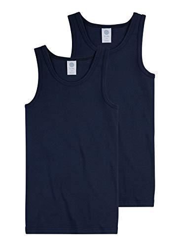 Sanetta Jungen Unterhemd im Doppelpack aus Bio-Baumwolle - Made in Europe - Neptun (50226), 104