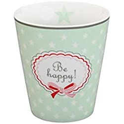Krasilnikoff - Tasse, Becher, Kaffeetasse, Mug - Be Happy - Porzellan - Grün