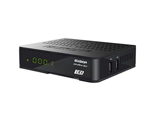 Edision Piccollino - Receptor triple 3 en 1 LED, Full HD (DVB-S2/T/C, HDMI, USB, lector de tarjetas Conax), color negro, no (servicio no garantizado en todos los países)