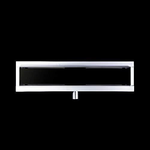Duschrinne 70cm Edelstahl Ablaufrinne Größen 60-80cm mit Geruchsstop und Haarsieb Befliesbar Bodenablauf Glas Schwarz/Multi-Muster Auswahl Multi-glas