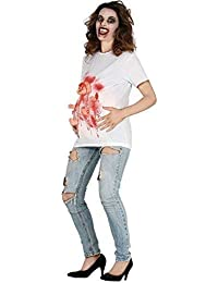 e04d594d6b543 Ladies Maternity Zombie Birth Pregnant Pregnancy Halloween Horror Funny  Comedy Fancy Dress Costume Outfit T Shirt