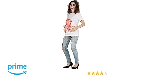 91a1a6edeec22 Ladies Maternity Zombie Birth Halloween Horror Funny Comedy Fancy Dress  Costume Outfit T Shirt (UK 16-18): Amazon.co.uk: Toys & Games