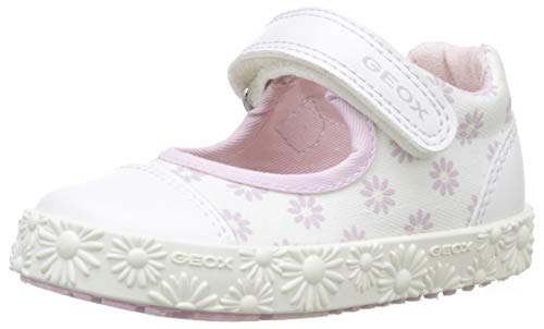 Geox Baby Mädchen B Kilwi Girl J Ballerinas, Weiß (White/Pink C0406), 26 EU