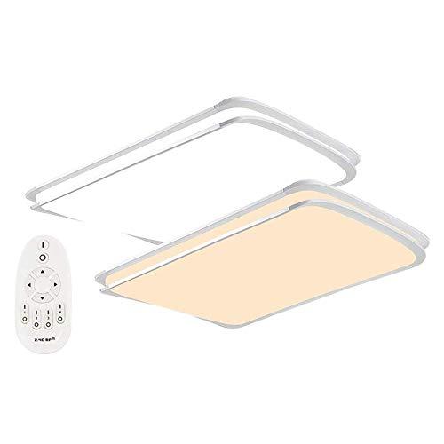 (MCTECH® 48W Dimmbar LED Deckenleuchte Deckenlampe Doppelte-Schichten Modern Panel Leuchte Flur Wohnzimmer bad Küche Schlafzimmer Küche Energie Sparen Licht Wandleuchte Lampe (48W Dimmbar))