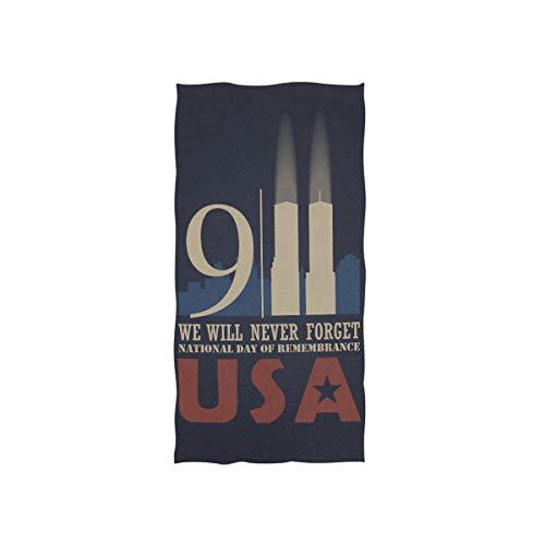 fdc7fa9b57f54e 911 Amerika Patriot Day Soft Spa Strand Badetuch Fingerspitze Handtuch  Waschlappen Für Baby Erwachsene Badezimmer Strand
