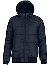 B&C Collection Men's Full Zip Fashionable Heavweight Puffer Hooded Jackets S-3XL