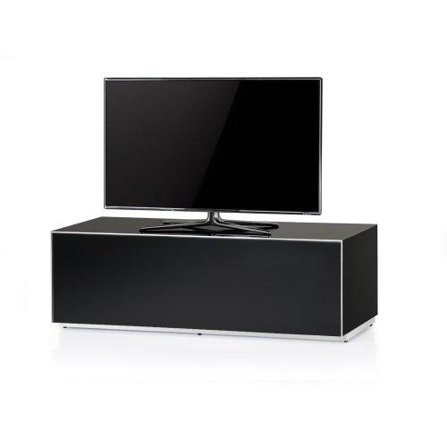Sonorous EX12-BLK Luxus Glas und Holz aufgebauter Schrank mit versteckte IR Repeater System für Fernsehen bis 60 Zoll.