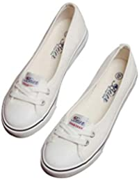 fbec71c6184 Zapatos Planos Conducir Mocasines Trabajo Zapatos de Lona Zapatos con  Cordones Ocio Retro Moda Bombas