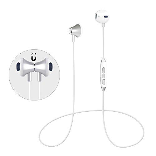 Bluetooth Sport Kopfhörer Magnetische Bluetooth Headset 4.1 Kabellos Stereo DSP Lärmreduzierung Wireless Kopfhörer Lebensdauergarantie mit Mikrofon schweißfeste Joggen Kopfhörer für iPhone Android Samsung iPad usw