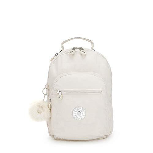 Kipling CLAS SEOUL S Zaino, 34 cm, 10 liters, Bianco (Dazz White)