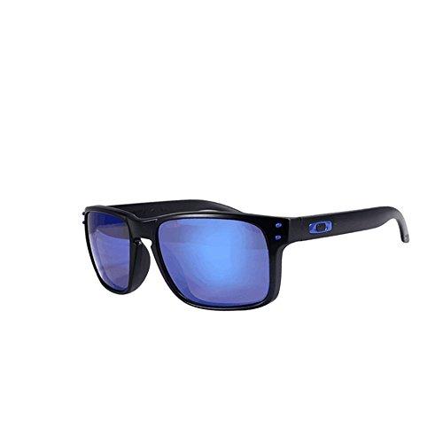 Honneury Polarisierte Designer Fashion Sports Sonnenbrille für Männer Baseball Radfahren Angeln Golf Running (Farbe : Blau Blau)
