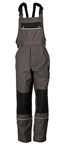 Latzhose Arbeitshose Berufsbekleidung Übergrößen grau Gr. 72