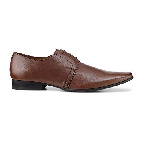 Belmondo Herren Herren Derby-Schnürschuh aus Leder, eleganter Business-Schuh in Braun Braun Glattleder 43