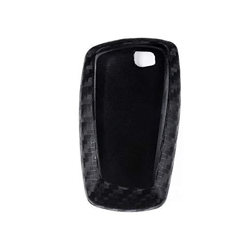 VDARK Kompatibler for Schlüsselanhänger Zubehör BMW 1 2 3 4 5 6 7 Serie X1 X2 X3 X4 X5 X6 i3 i8 F30 G20 F10 F01 G11 Gehäusehalter Abdeckung Auto Fernbedienung Kettenblatt Shell Protector Kohlefaser