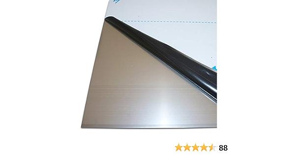B/&T Metall Aluminium Blechzuschnitte 1,0 mm stark Alu Blech gewalzt blank natur einseitig mit Schutzfolie im Zuschnitt Gr/ö/ße 10 x 80 cm 100 x 800 mm