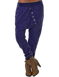 beautyjourney Pantalones de harén holgados de mujer Pantalones Bloom  Pantalones casuales de Hip Hop Pantalones. c46d006e713