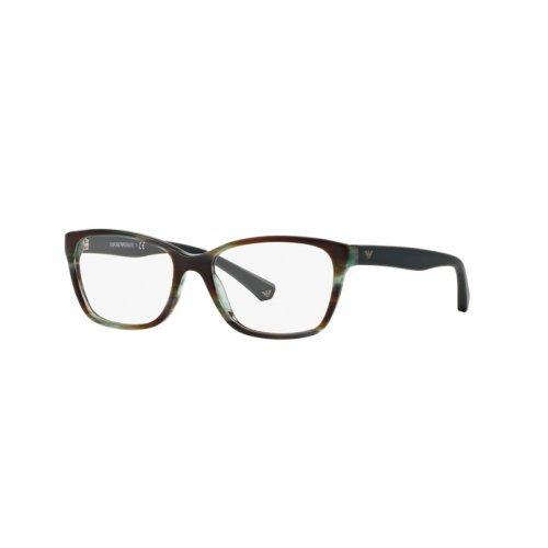 Ray-Ban Damen 0EA3060 Brillengestelle, Grün (Striped Green), 52