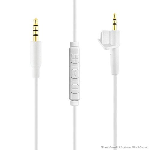 Bose around-ear AE2, AE2i, AE2W, SoundTrue Kopfhörer Ersatz Kabel mit Mikrofon/Kopfhörer Audio-Kordel mit Lautstärkeregler (weiß)