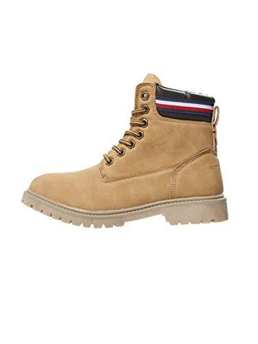 Tommy Hilfiger Kinder Boots Winter Stiefel Schuhe für Jungen, Farbe:Braun, Größe:EUR 34
