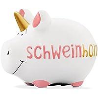 Preisvergleich für Unbekannt KCG Kleinschwein Keramik Spardose Sparschwein Einhorn SCHWEINHORN/ca. 12.5 cm x 9 cm